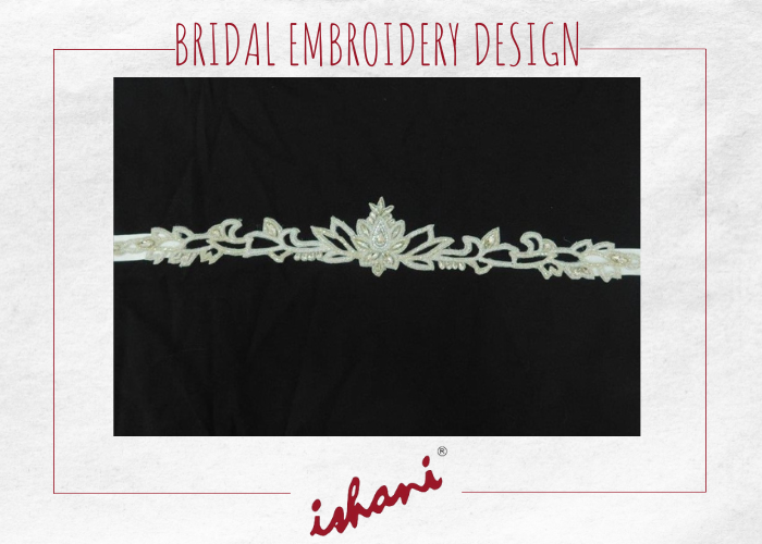 Bridal Embroidery By Ishani - Design 6