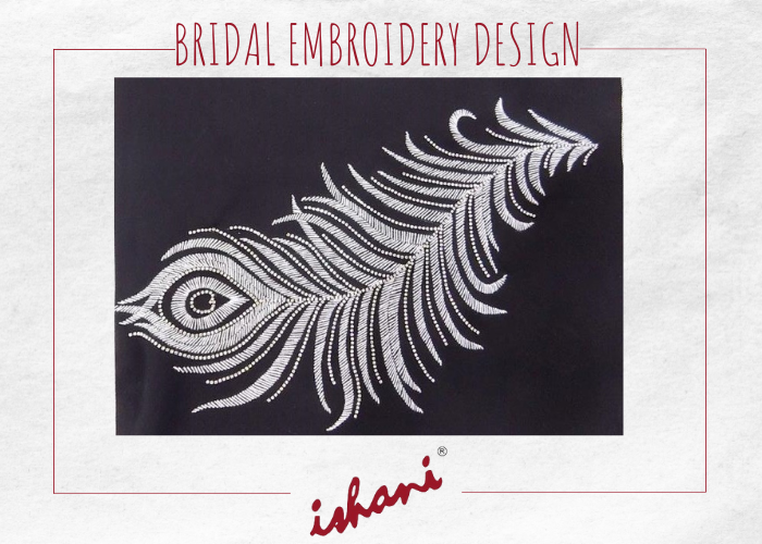 Bridal Embroidery By Ishani - Design 9